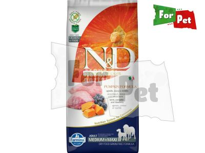 N&D Dog Grain Free bárány&áfonya sütőtökkel adult medium/maxi 12kg